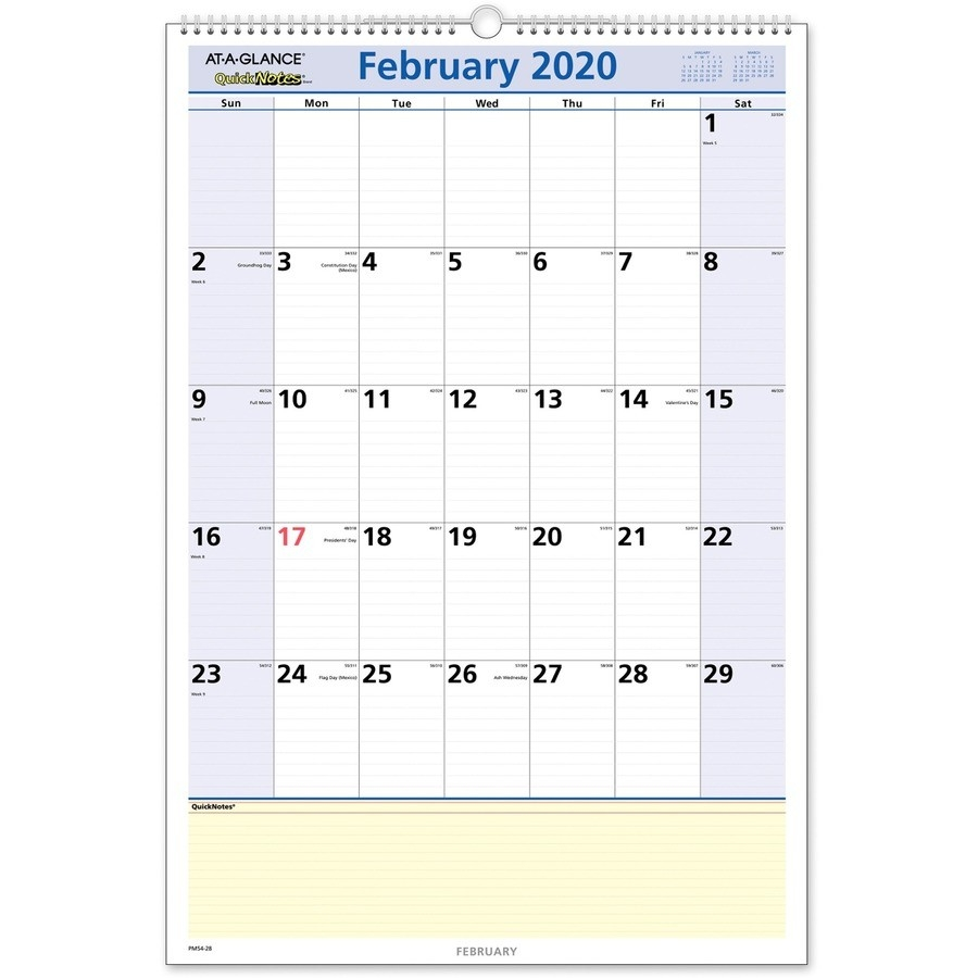 At-A-Glance Quicknotes Monthly Wall Calendar - Julian Dates  Military Calendar 2021, With Julian Day