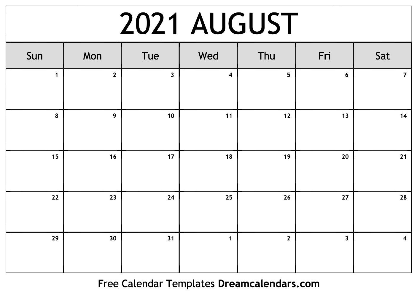 August 2021 Calendar | Free Blank Printable Templates  Calendar 2021 August To December
