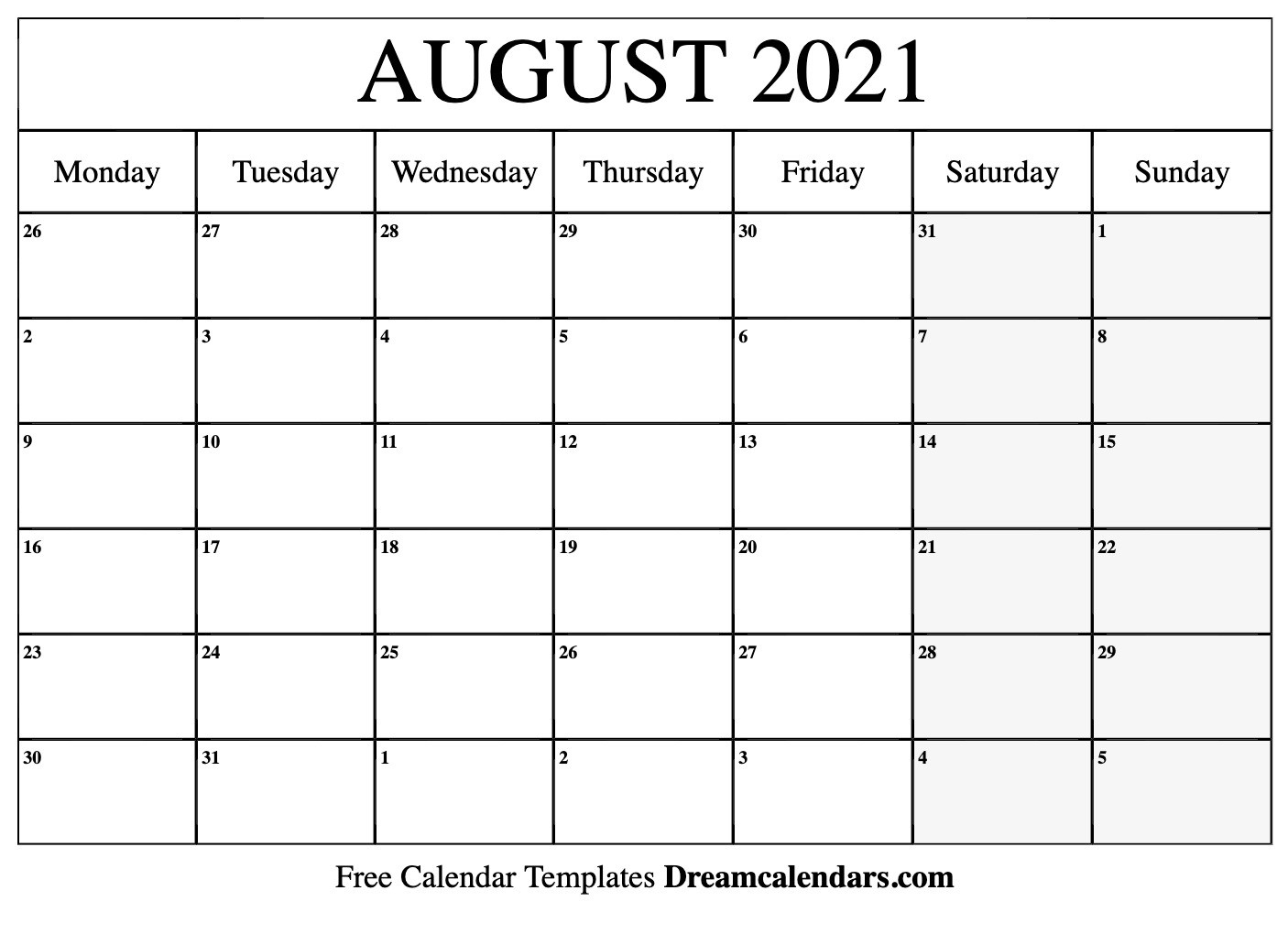 August 2021 Calendar | Free Blank Printable Templates  Summer Months 2021 Calendar