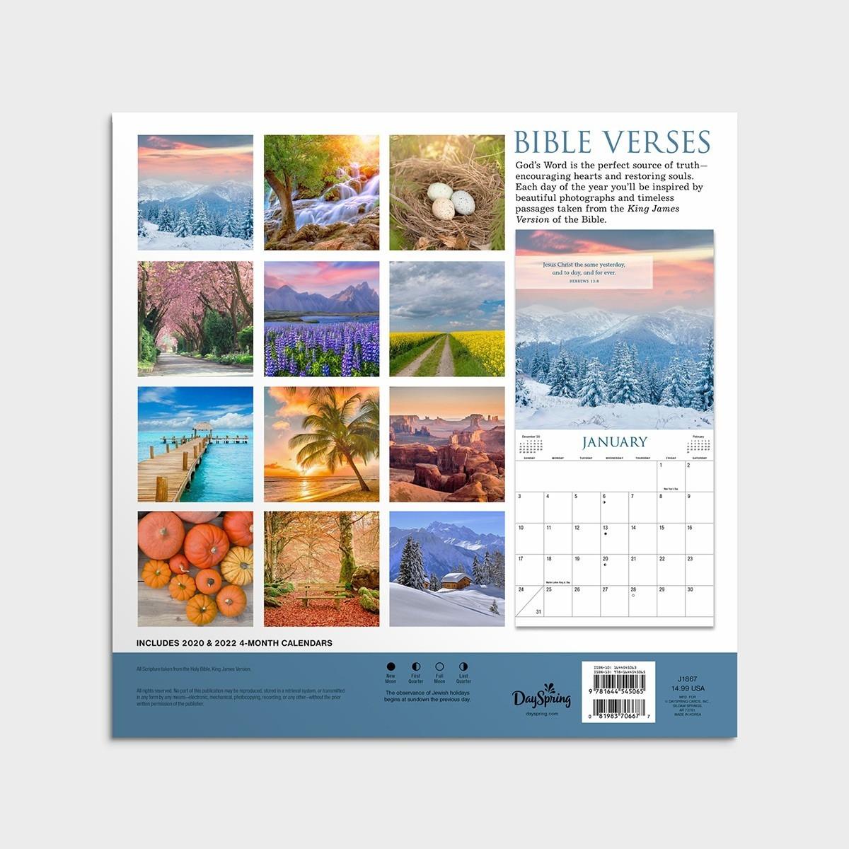 Bible Verses - Kjv - 2021 Wall Calendar  Advent Scriptures 2021