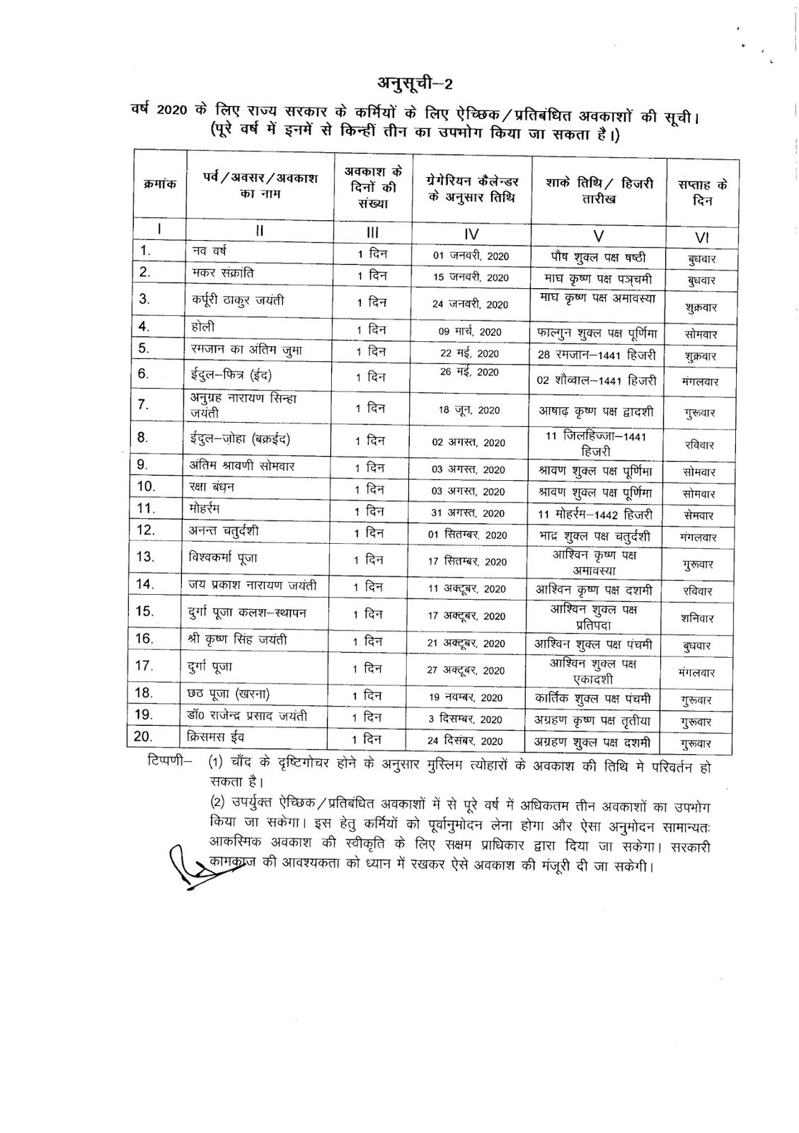 Bihar Government Calendar 2020 #Educratsweb  2020 Bihar Sarkar Ka Calendar