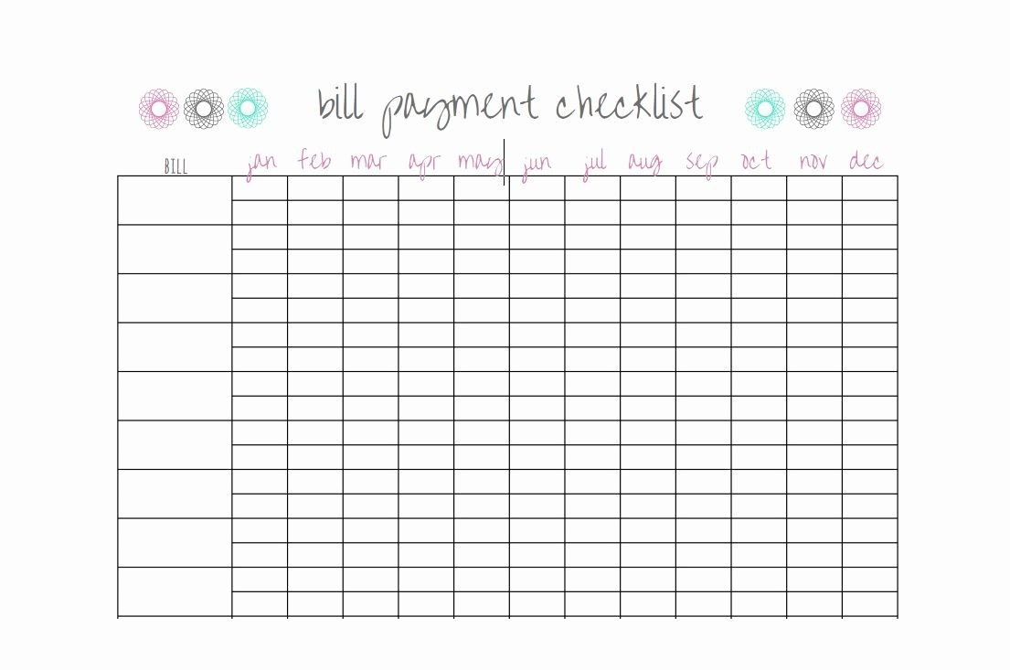 Bill Paying Calendar Template Awesome 32 Free Bill Pay  Bill Paying Worksheet Pdf