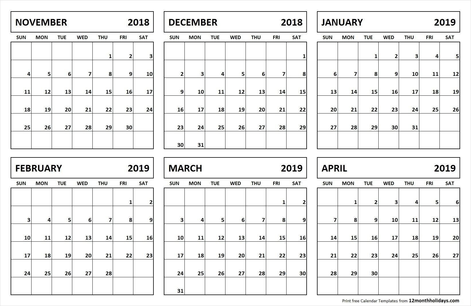 Blank 6 Month Calendar | Calendar For Planning  Calender 6 Months