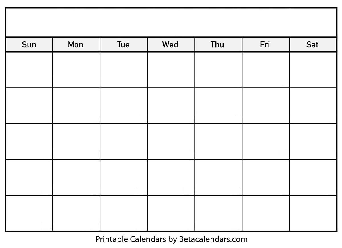 Blank Calendar 2021   Free Blank Printable Templates  Blank 30-Day Calendar
