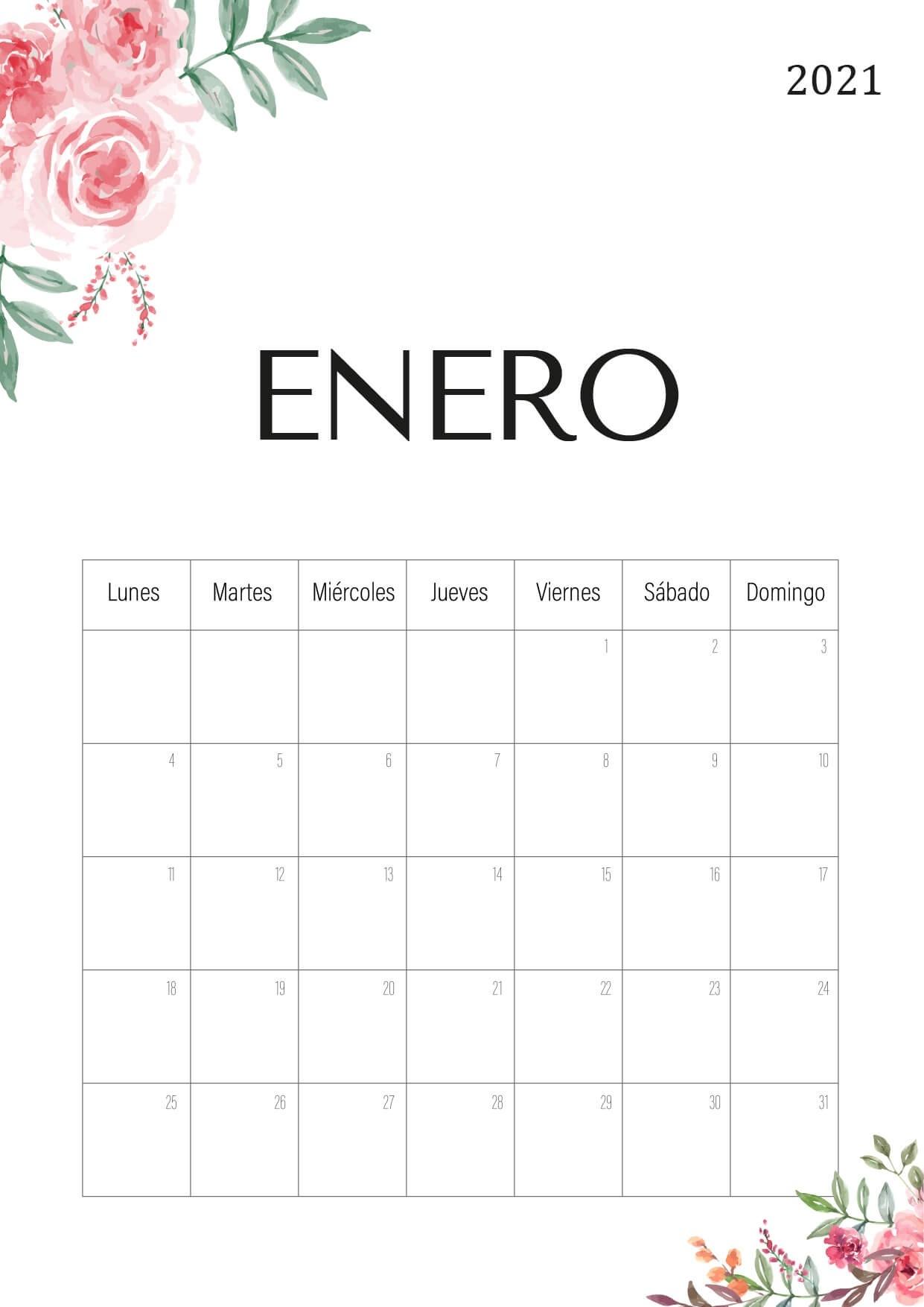 Calendario 2021 Pdf - Bonito Para Imprimir  Calendario Por Mes Para Imprimir 2021
