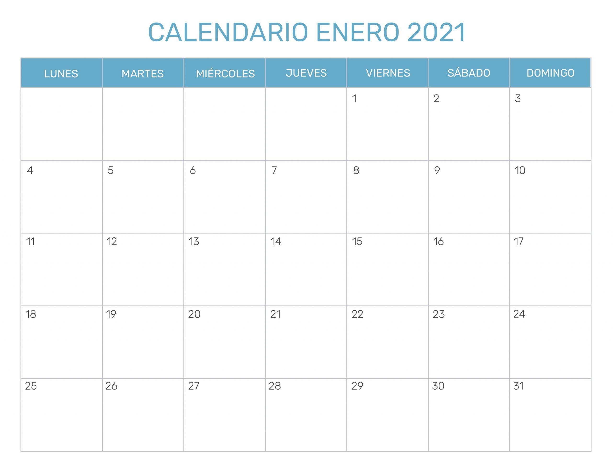 Calendario Mensual Para Imprimir Año 2021  Calendario Por Mes Para Imprimir 2021