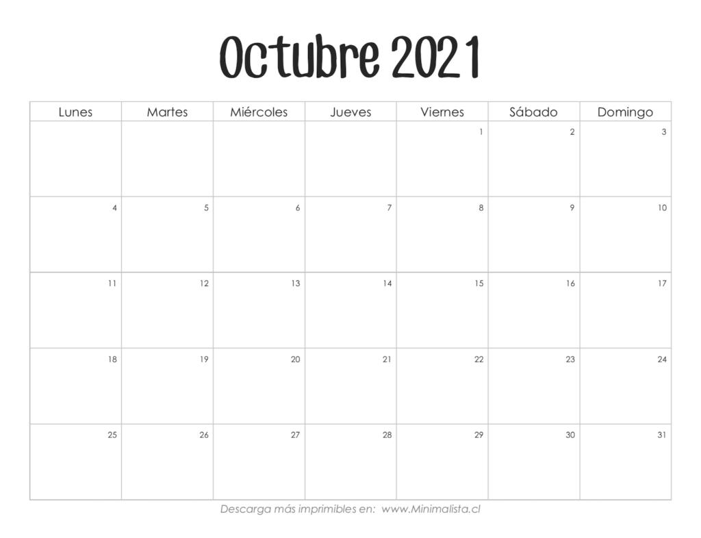 Calendarios 2021 Para Imprimir - Minimalista  Calendario Por Mes Para Imprimir 2021