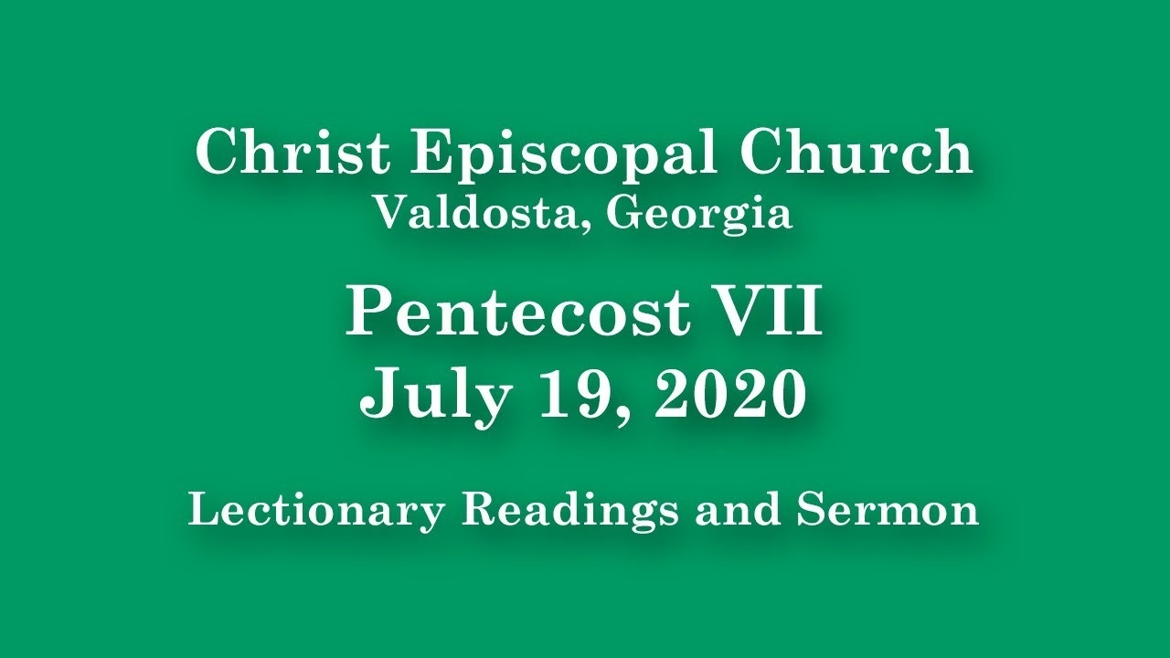 Christ Episcopal Church | Lectionary Readings And Sermon | July 19, 2020  Show Lectionary For 2020