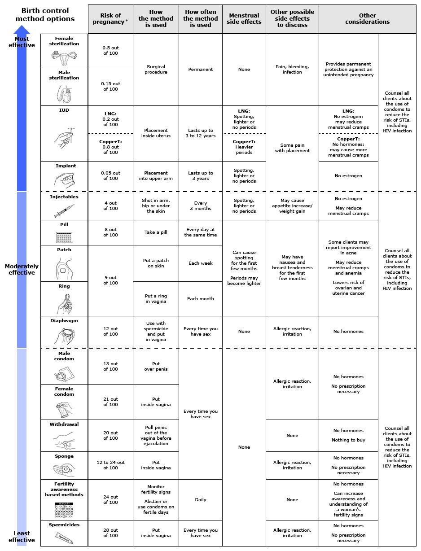 Combined Estrogen-Progestin Oral Contraceptives: Patient  Depo Provera Theraputeic Injection Calendar