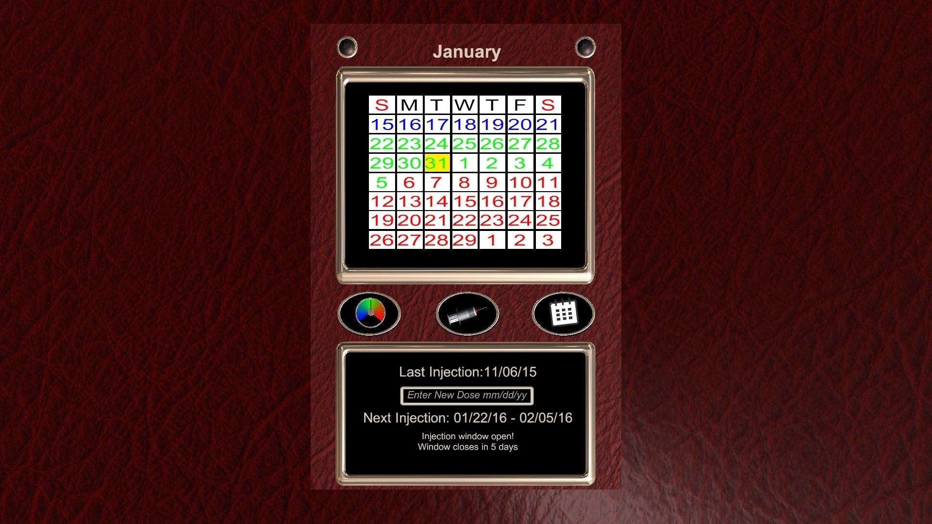 D-Calendar - Unity Connect  Medroxy Progesterone 2021 Calendar