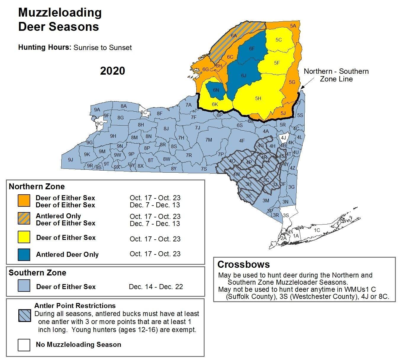 Deer And Bear Hunting Seasons - Nys Dept. Of Environmental  2021 Northern Ny Deer Rut Start