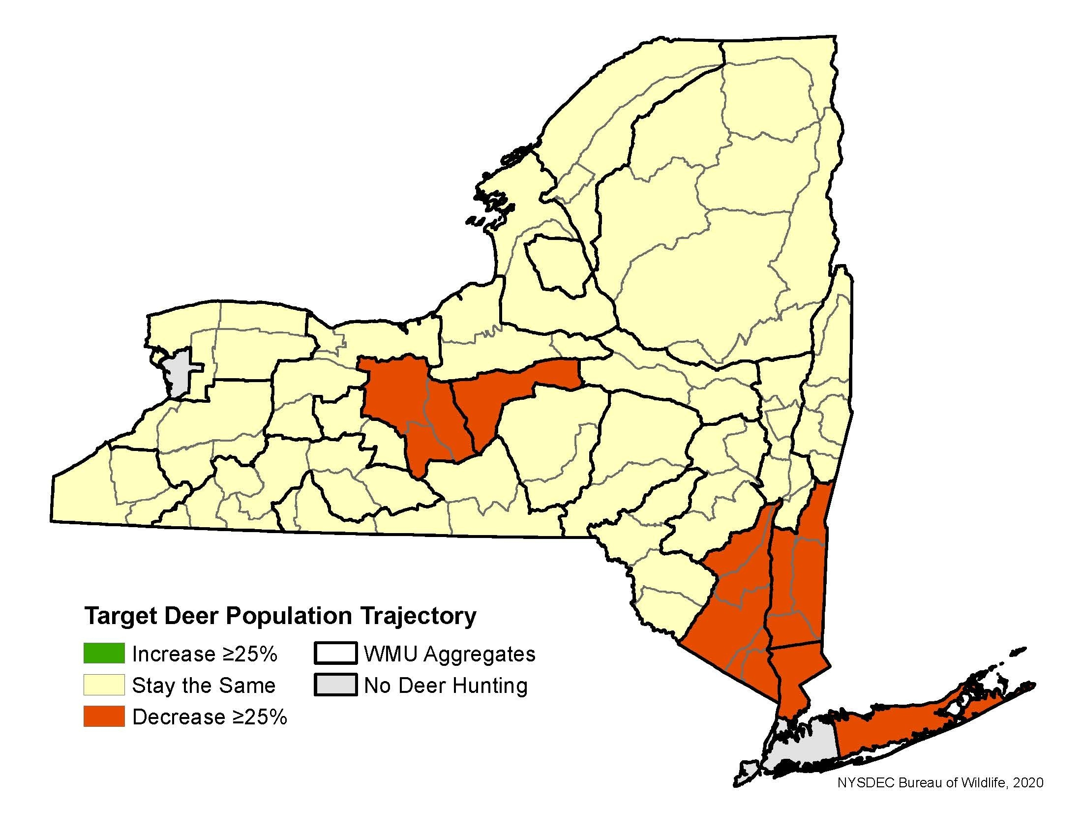 Deer Hunting Season Forecasts - Nys Dept. Of Environmental  Nys Deer Forecast For 3H