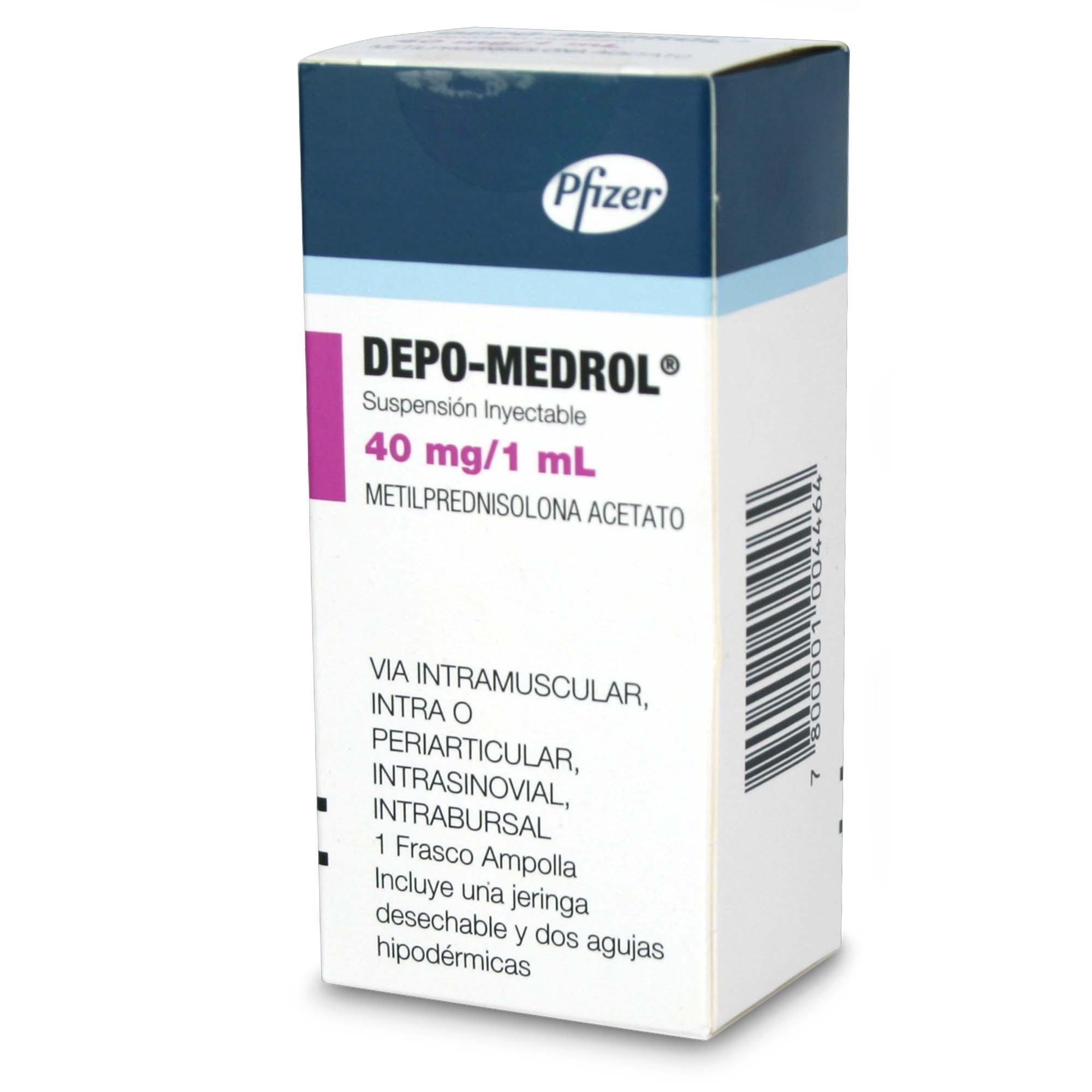 Depo-Medrol Metilprednisolona 40 Mg 1 Ml Ampolla | Chile  Depomedrol Caland