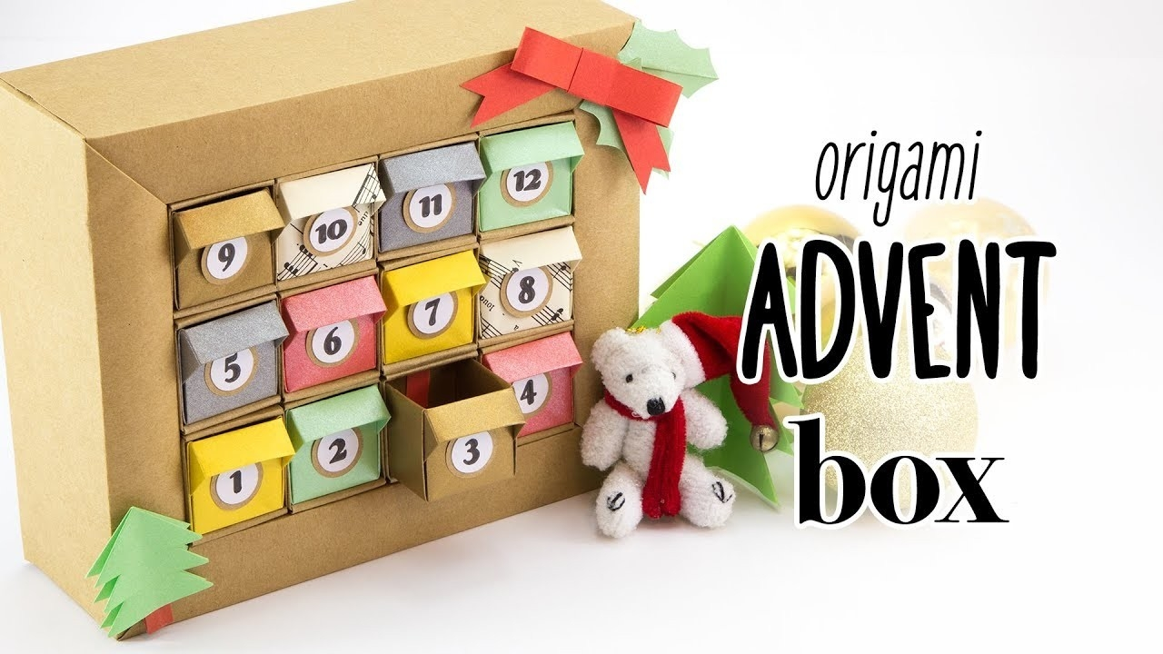 Diy Origami Advent Calendar Box Tutorial - Paper Kawaii  Advent Calendar Box