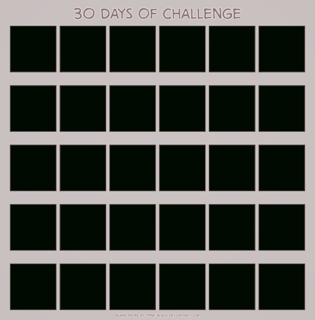 Download Blank Calendar Printable Mesmerizing 30 Www  Printable 30 Day Challenge Blank Calendar