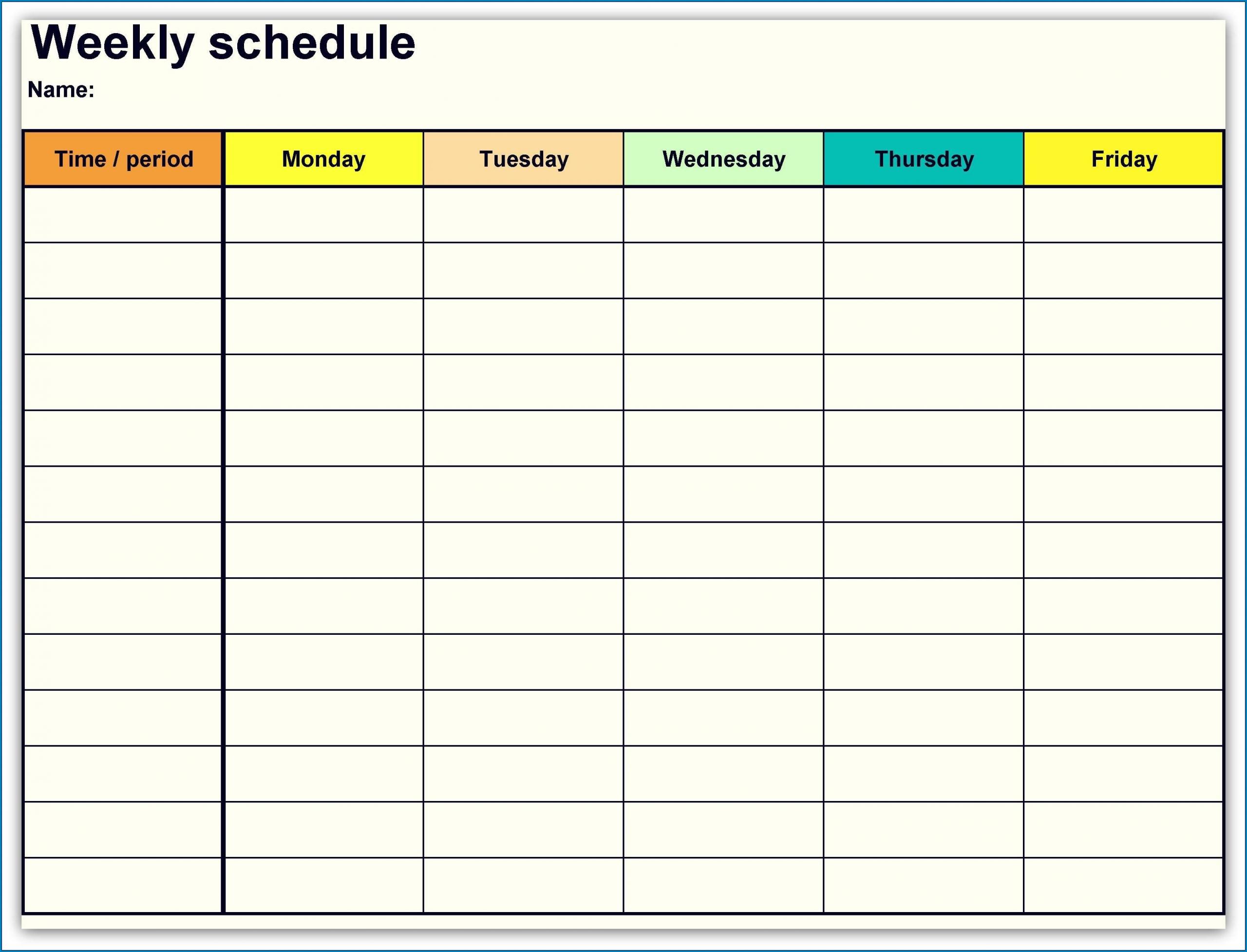 √ Free Printable Weekly Calendar Template | Templateral  Free Printable Weekly Time Calendar