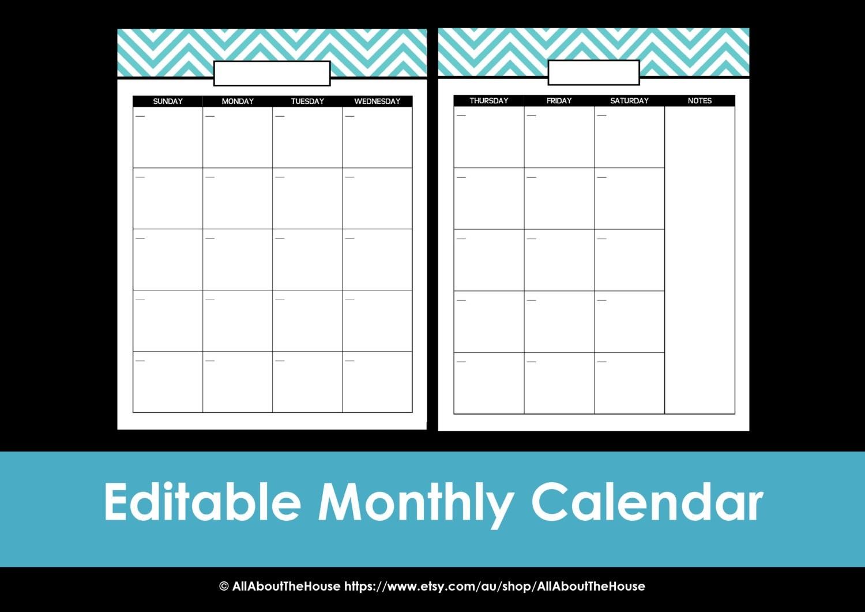 Editable Calendar  Depo Calendar Printable Pdf