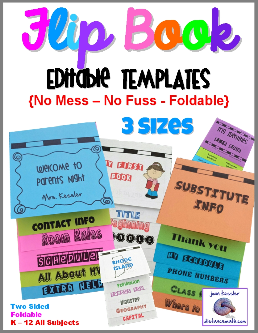 Editable, Foldable Flip Book Templates - No Glue No Mess! 3  Flip Chart Template For Word
