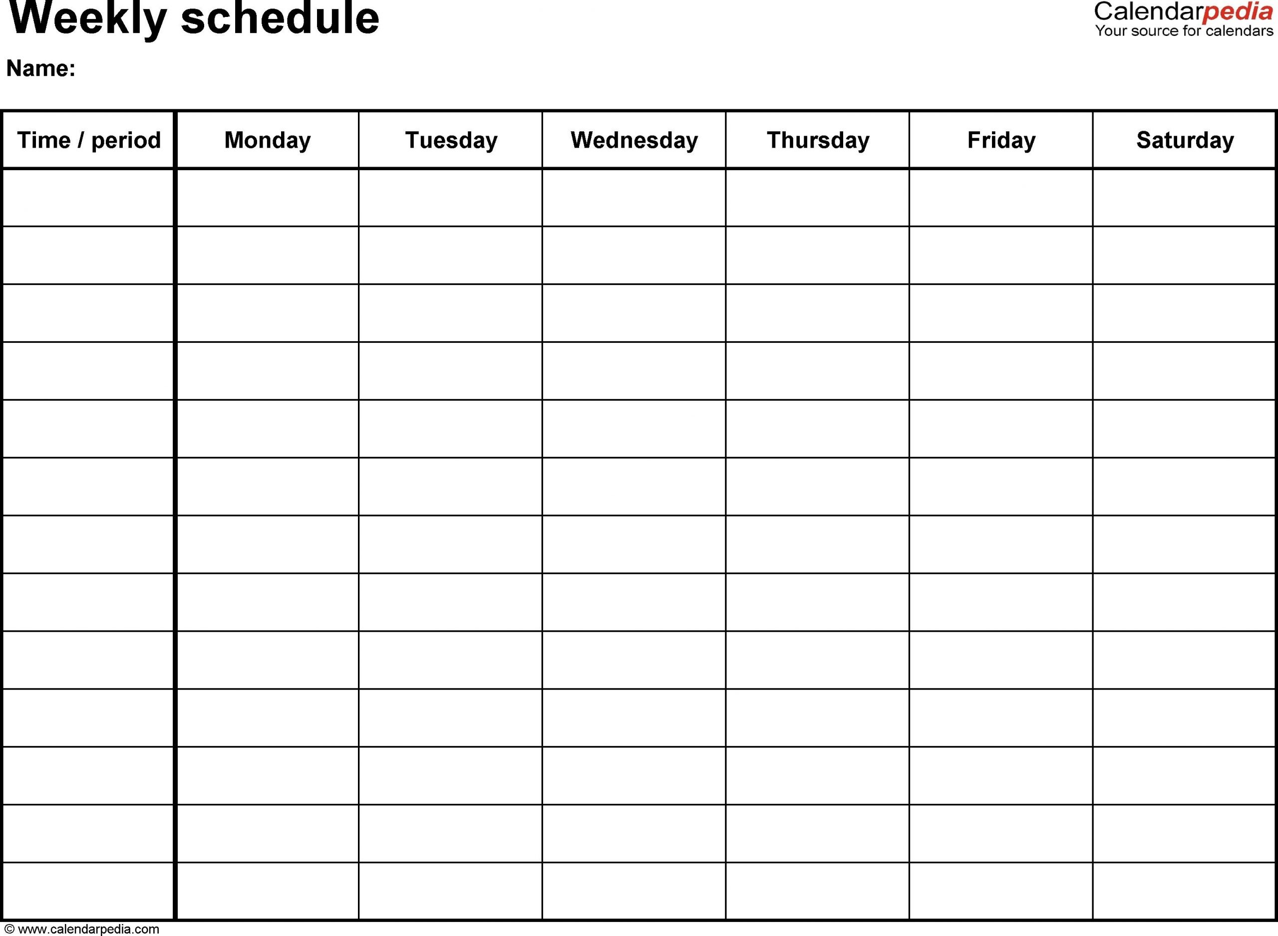 Fillable Weekly Calendar Printable Weekly Calendar With 15  Weekly Diary Sheets With Hourly Slots