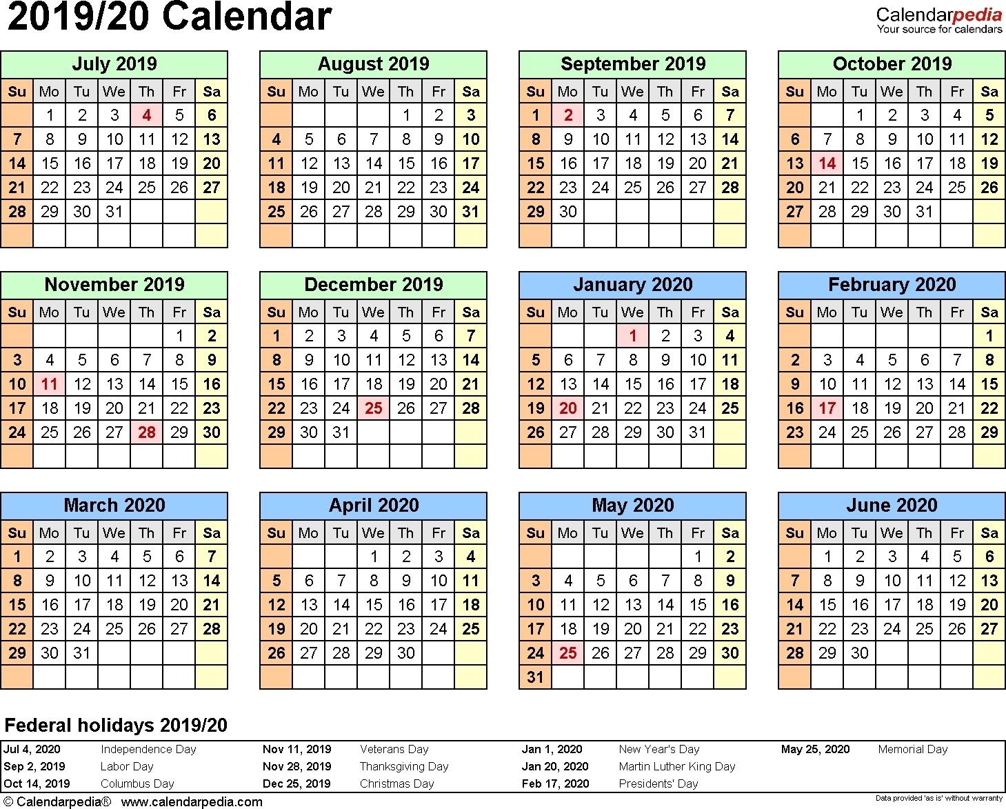 Financial Calendar 2019- 2020 Printable.au - Calendar  Australia What Are The Dates For The 18/19 Financial Year