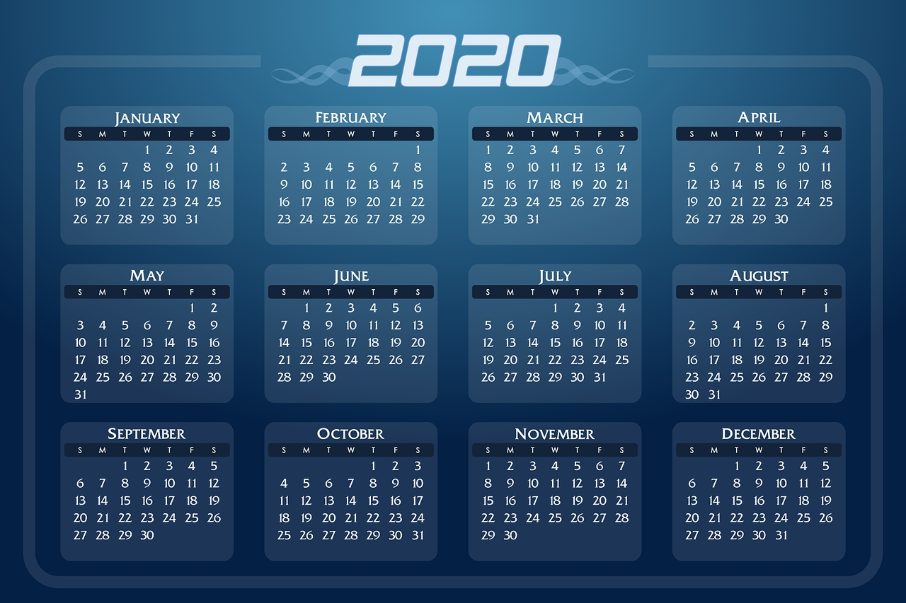 Financial Calendar - Key Dates For 2020  18/19 Financial Year Dates