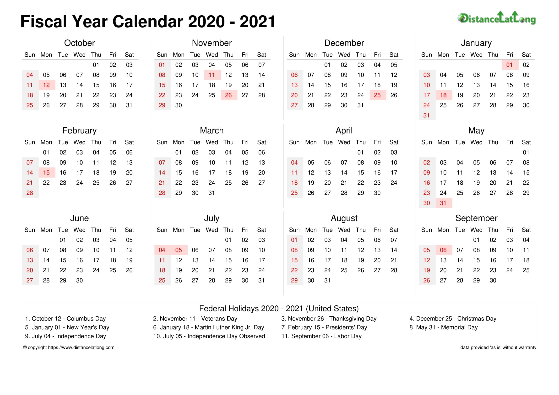 Fiscal Year 2020-2021 Calendar Templates, Free Printable  Fiscal Year 2021 Australia Calendar