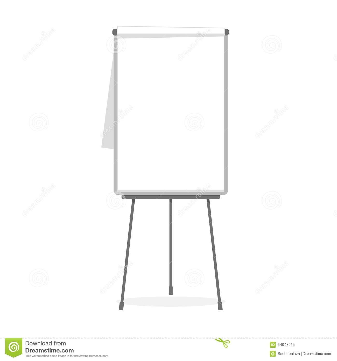 Flipchart Blank Template Illustration 64048915 - Megapixl  Flip Chart Template