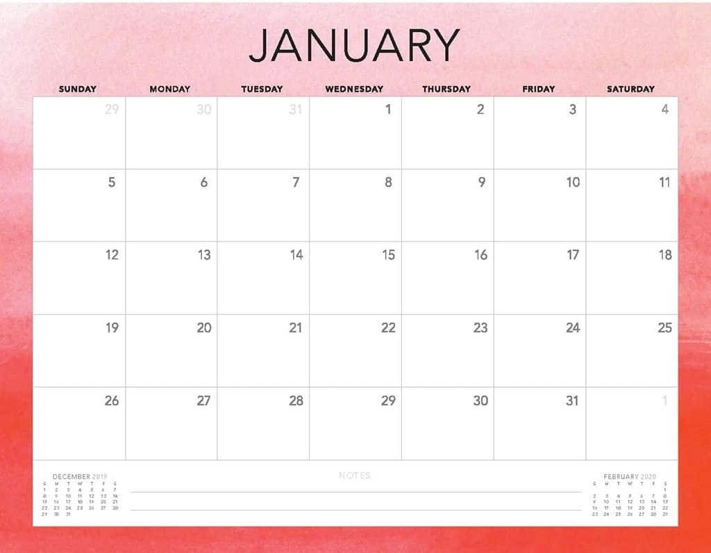 Free 2020 Printable Calendars - 51 Designs To Choose From!  Free Download Printable 2020 Monthly Calendar