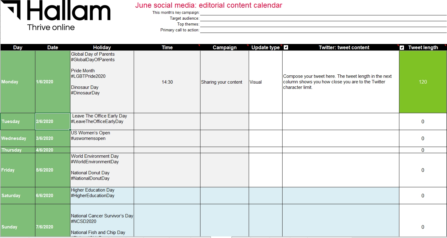 Free 2020 Social Media Marketing Calendar | Plan Your Social  Facebook Monthly Calendar Free Template