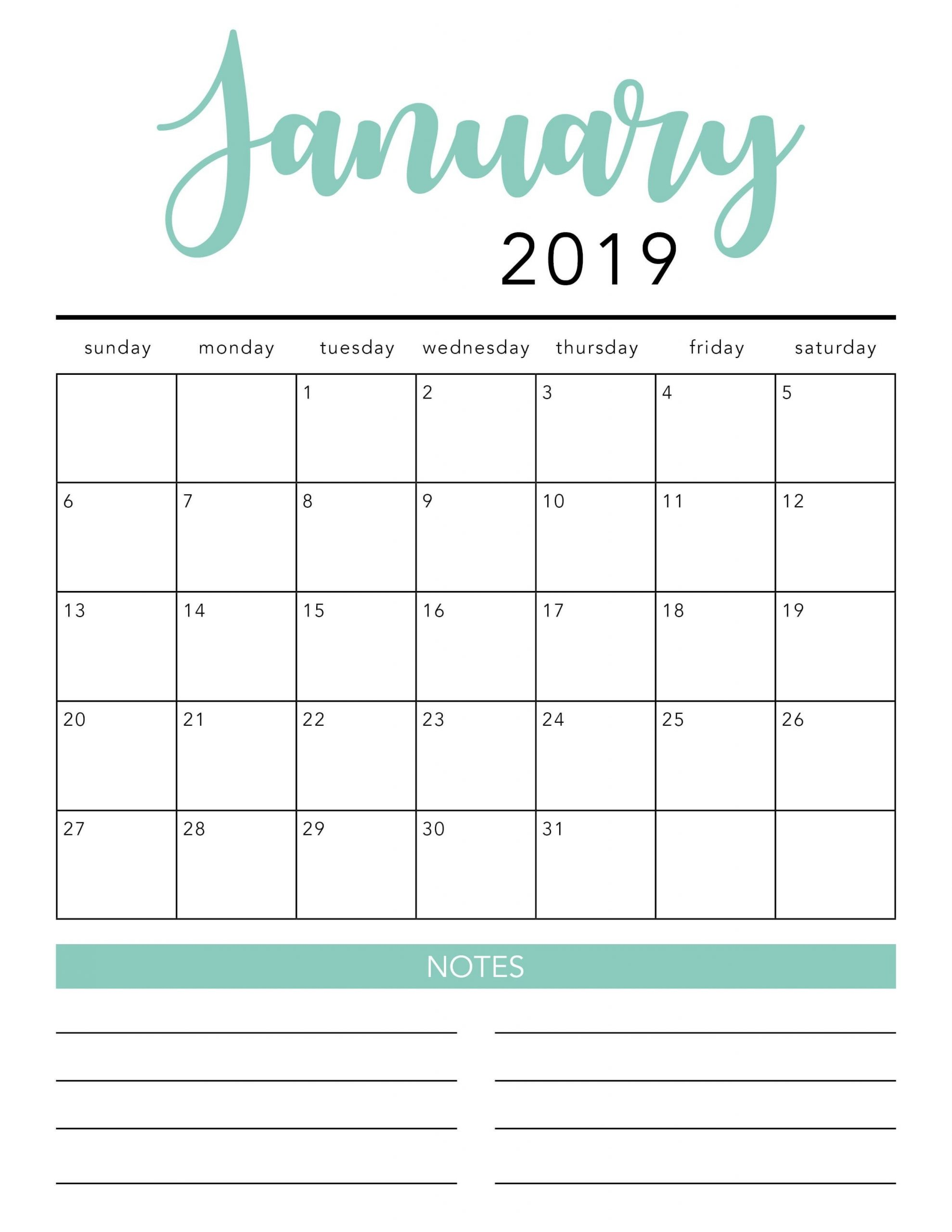 Free 2021 Printable Calendar Template (2 Colors!) - I Heart  Calendar Month To Month Print
