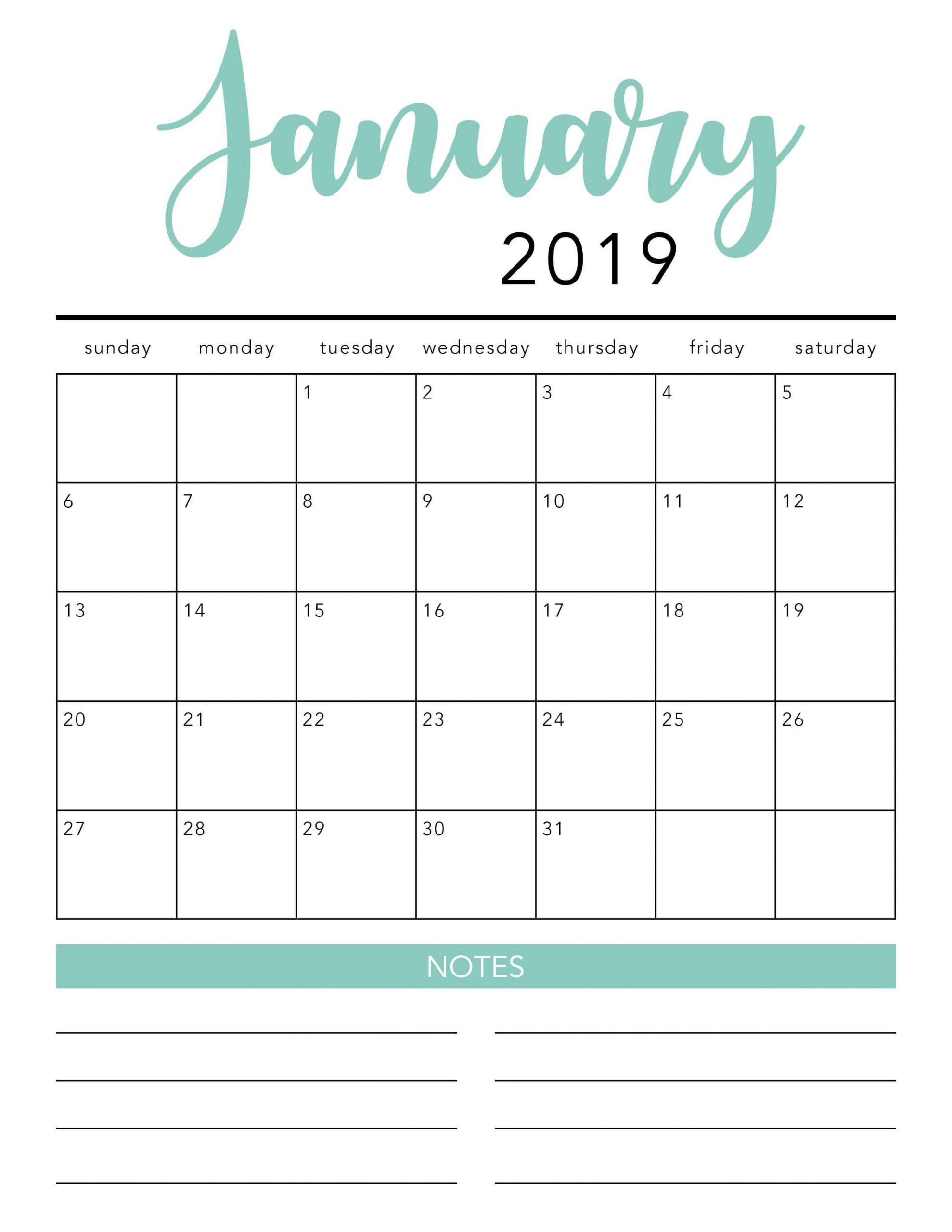 Free 2021 Printable Calendar Template (2 Colors!) - I Heart  Free Printable Month Calendar