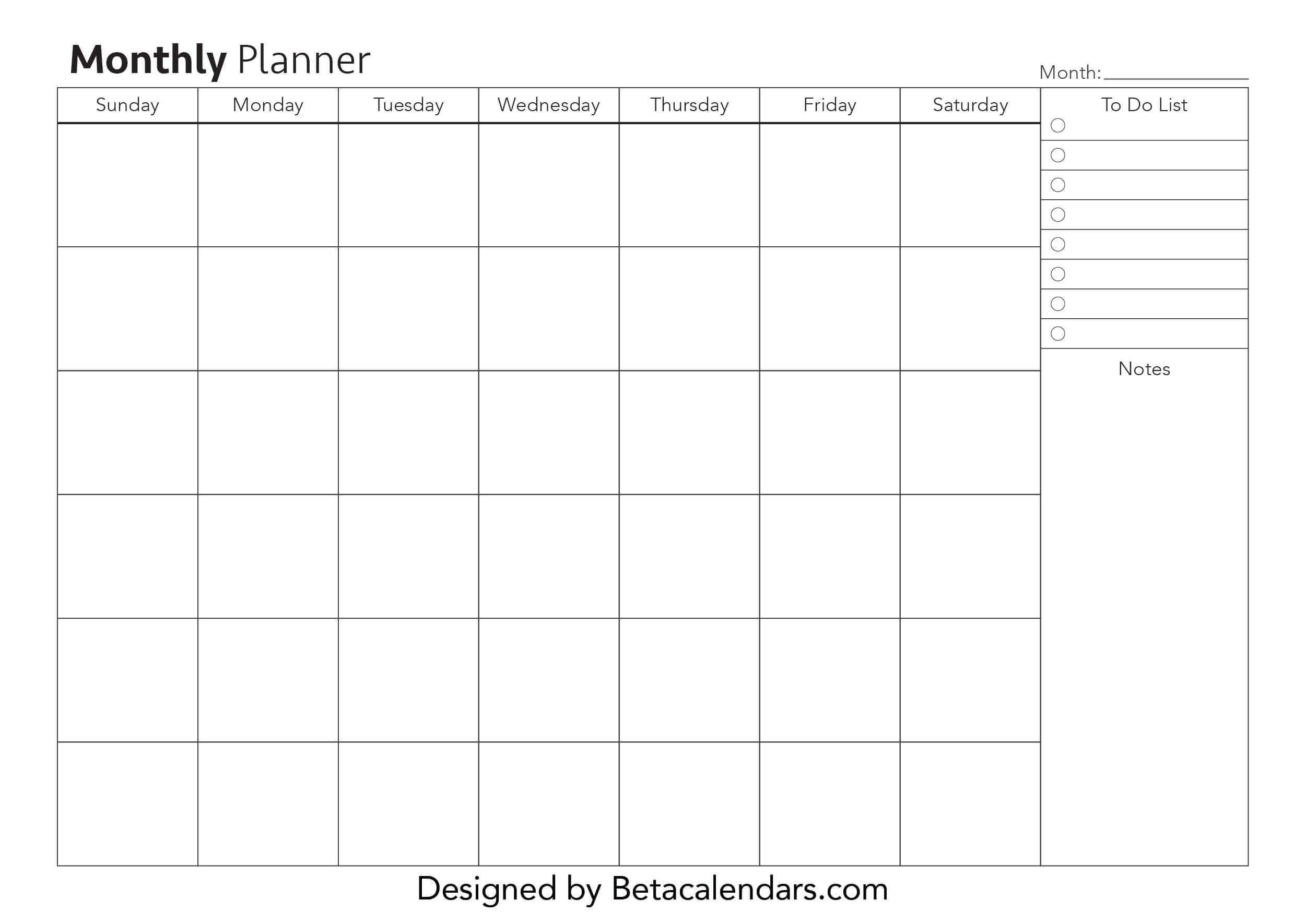Free Monthly Planner In 2020 | Monthly Planner Template  Monthly Planner
