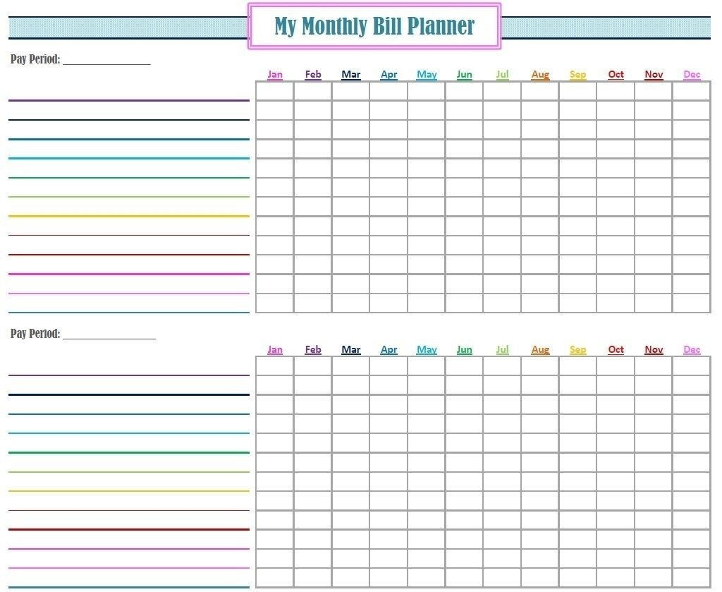 Free Printable Bill Organizer Monthly Bill Pay In 2020  Free Printable Bill Pay Calendar 2020
