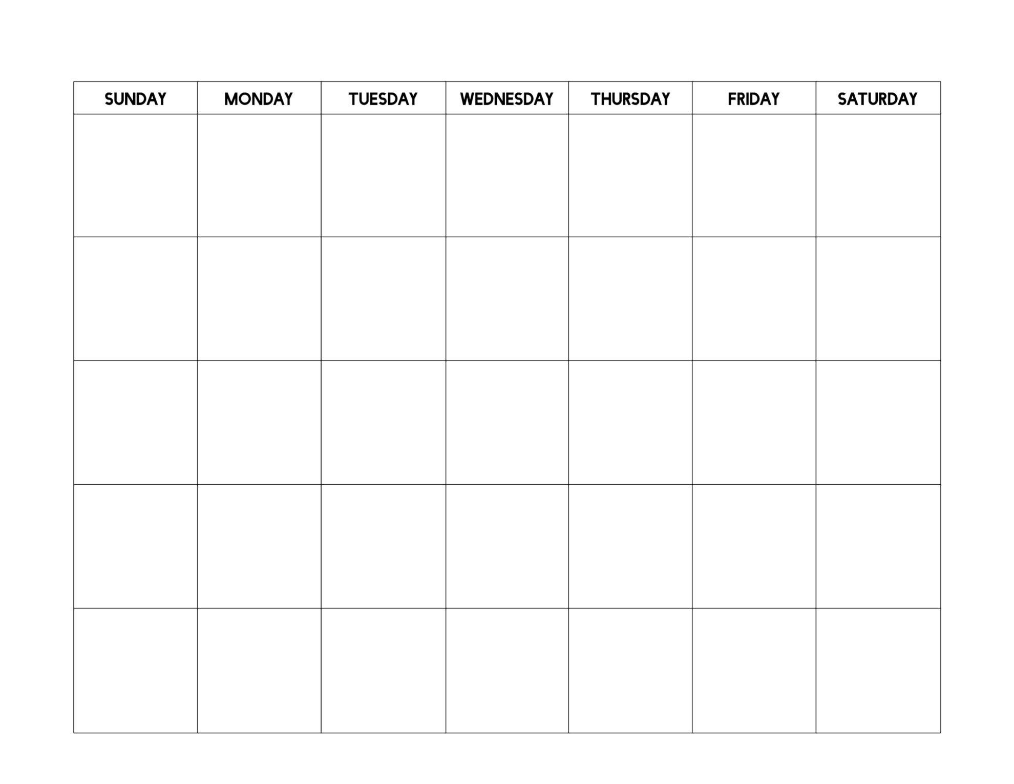 Free Printable Blank Calendar Template | Paper Trail Design  Full Page Blank Calendar