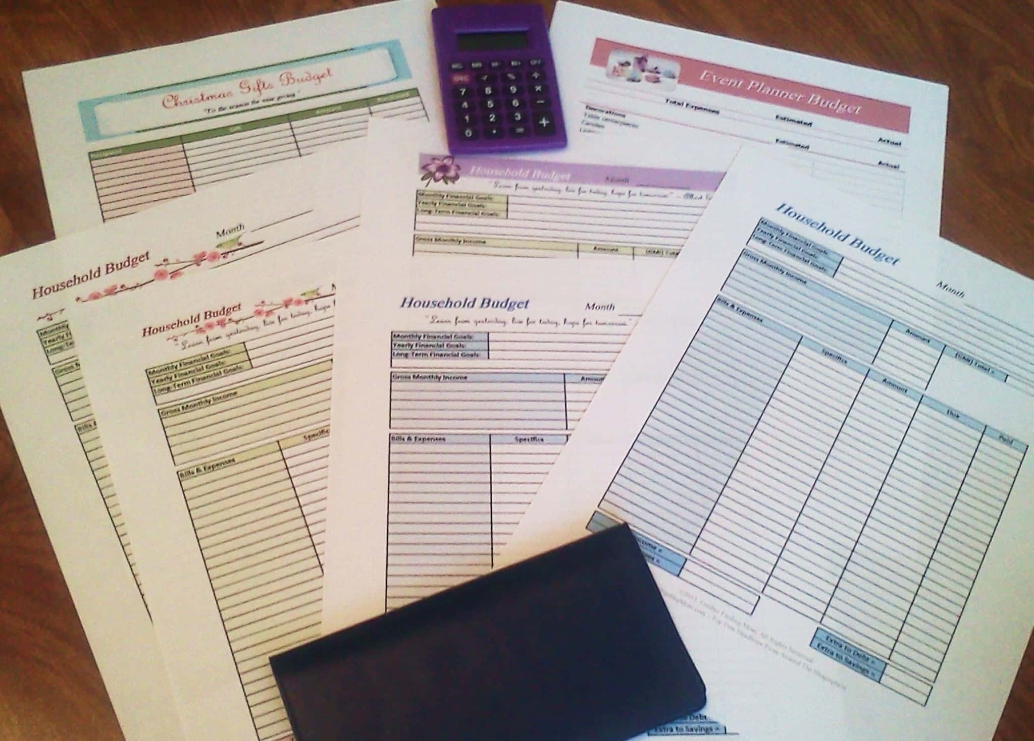 Free Printable Budget Worksheets  Printable Budget Worksheet Free