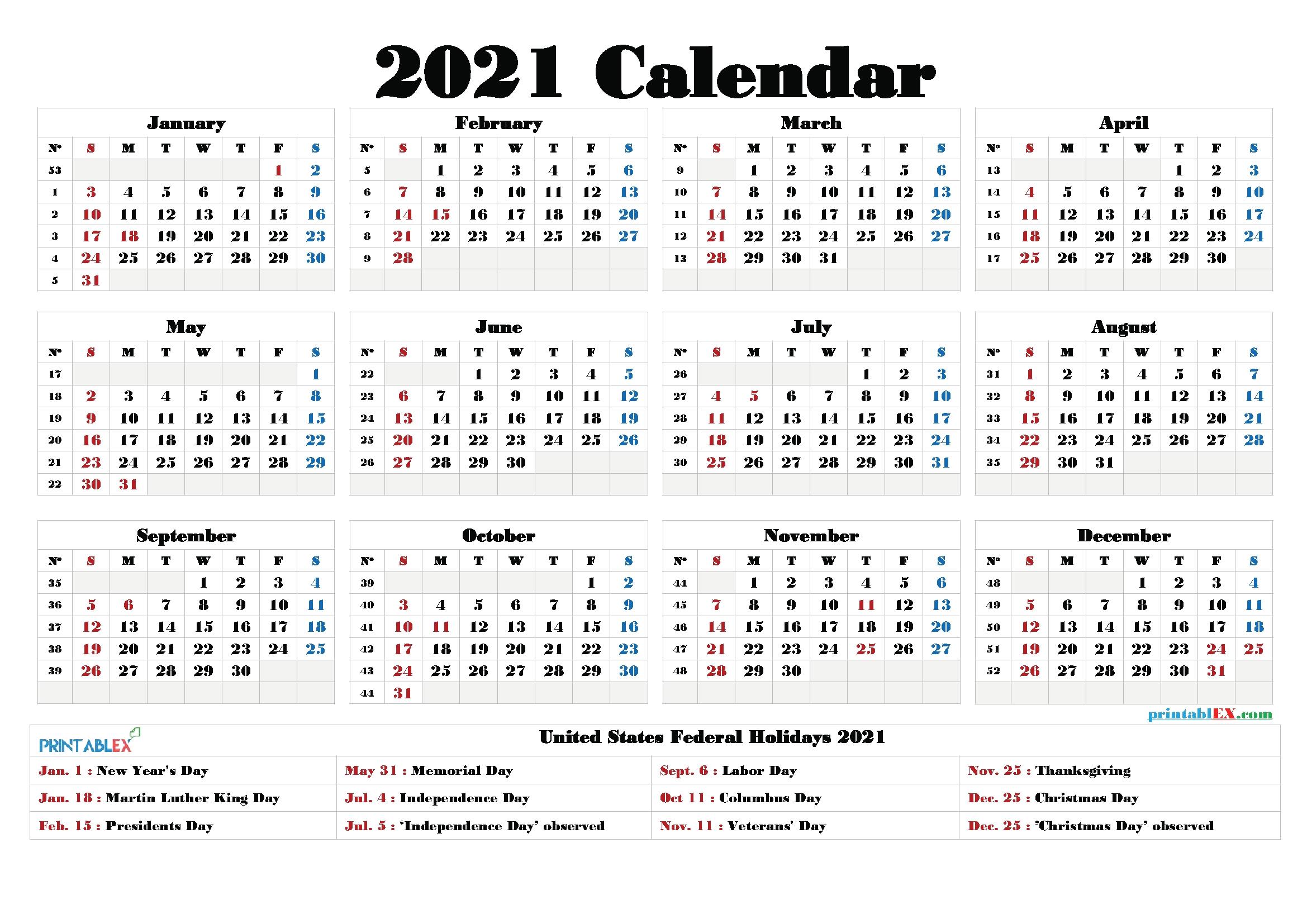 Free Printable Calendar 2021 Pdf And Png – Free Printable 2020  Calandar 2021 Pdf