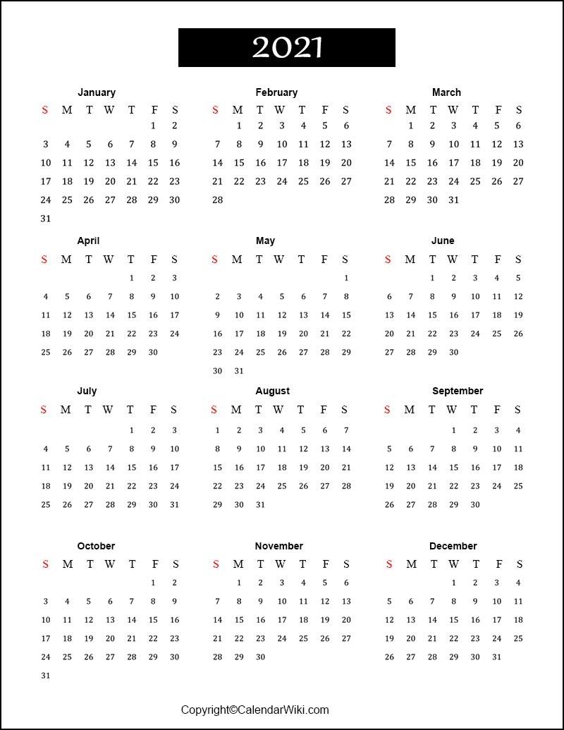 Free Printable Calendar 2021 Templates [Pdf, Word]  Free Online Calendars 2021 Printable