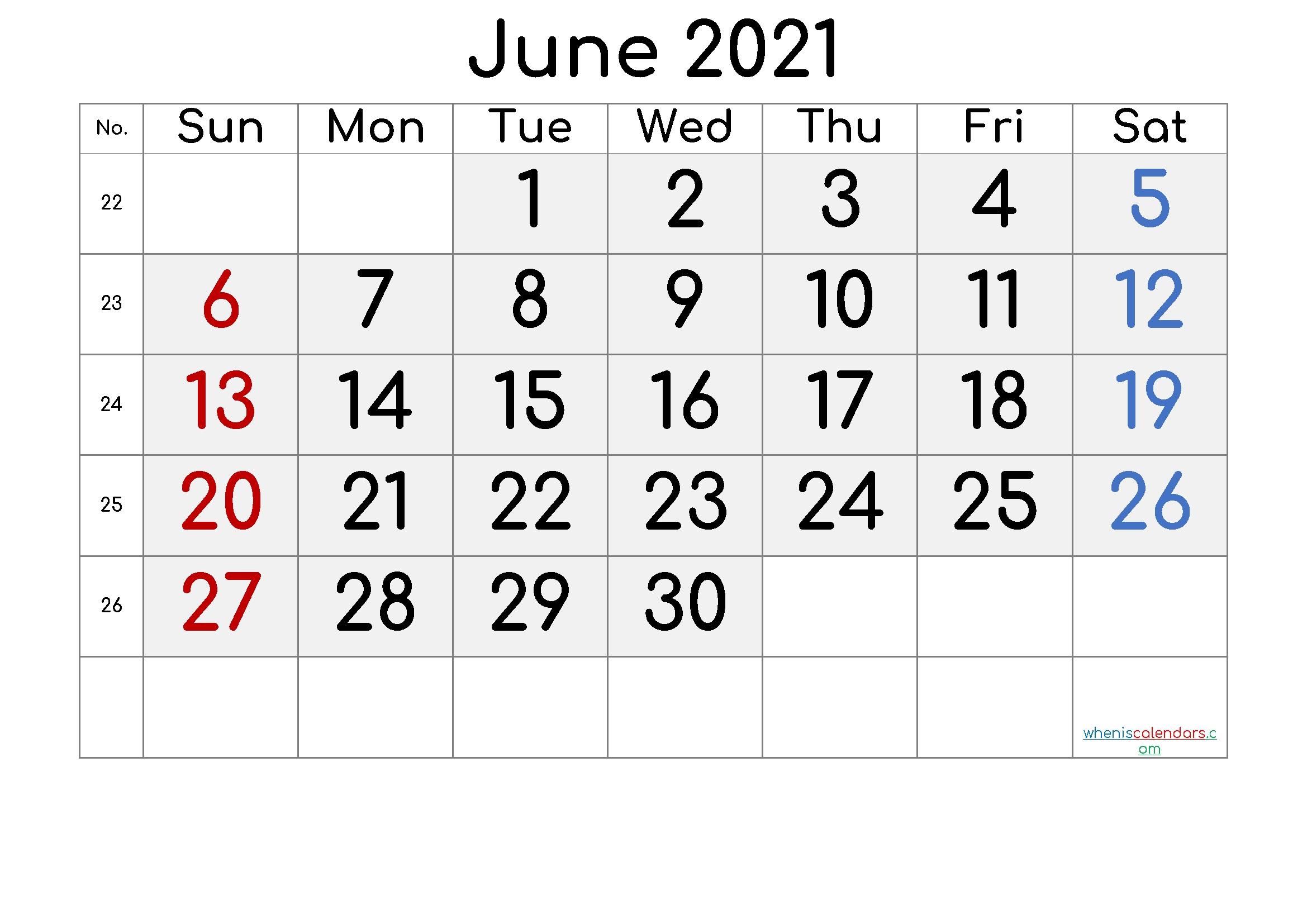 Free Printable June 2021 Calendar (Premium) In 2020  Monthly Payment Sheet June, 2021