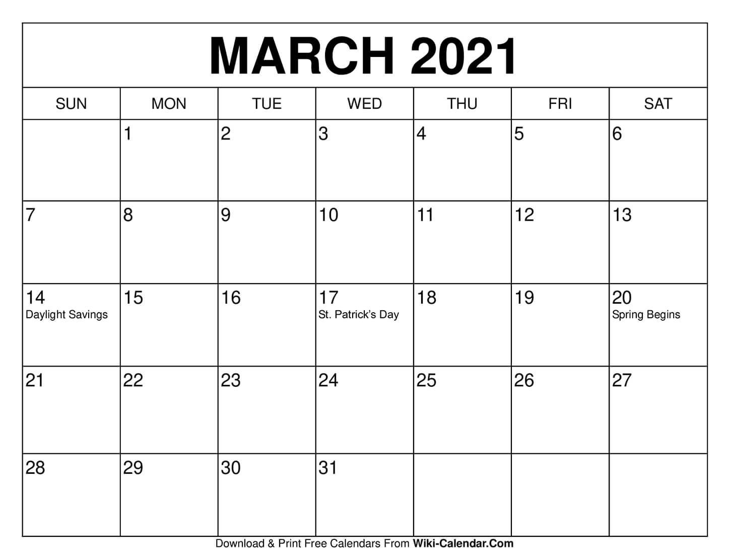 Free Printable March 2021 Calendars  Free Triple Month Calendars 2021