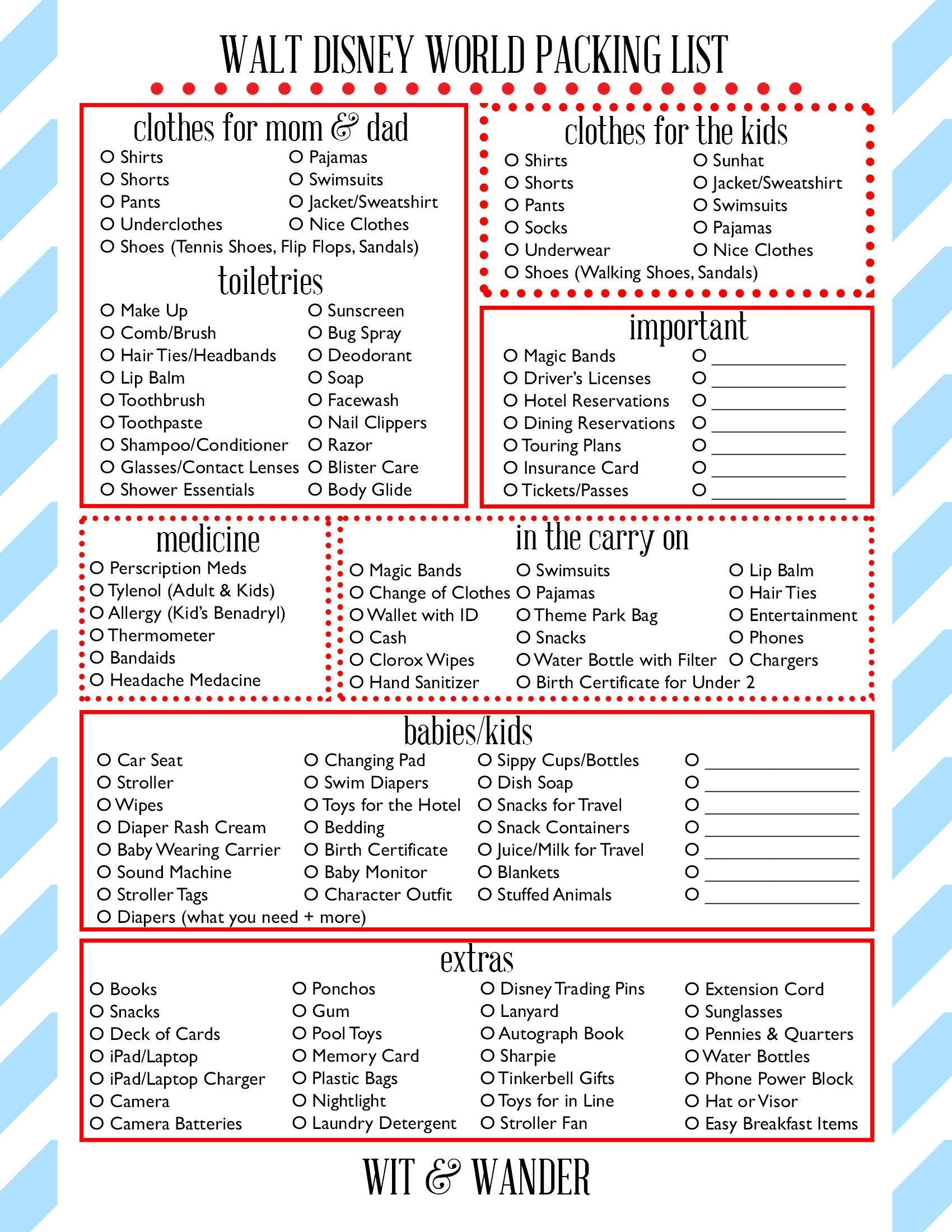 Free Printables - Our Handcrafted Life | Disney World  Printable Disney World Attractions List