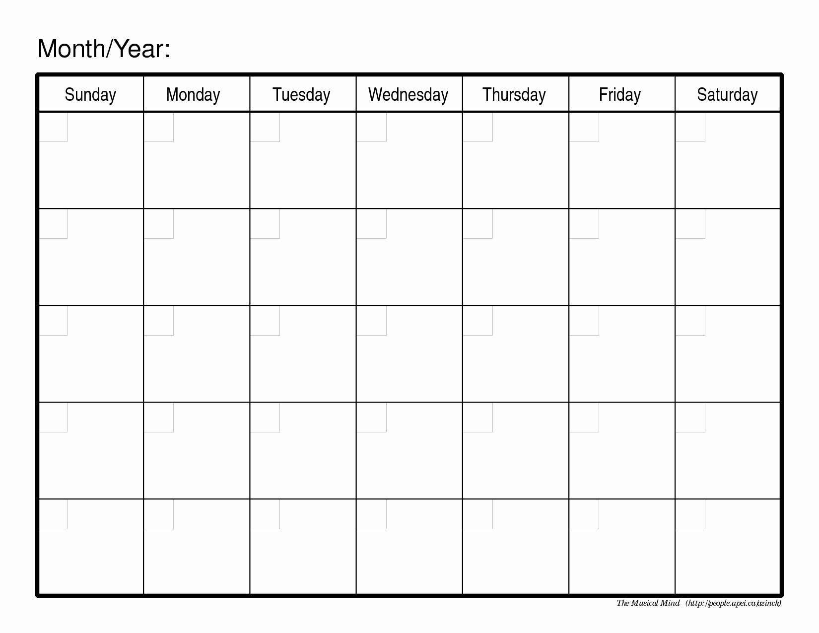 Full Size Blank Printable Calendar | Blank Calendar Template  Full Size Printable Monthly Calendars