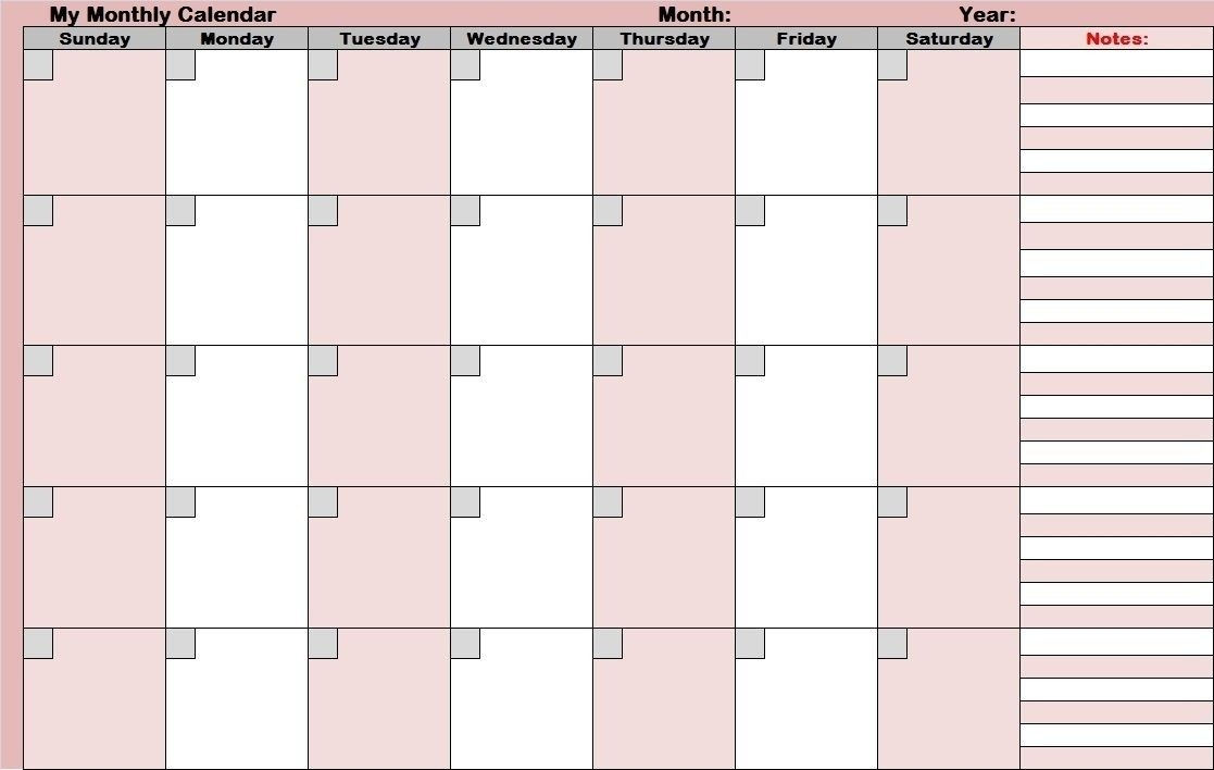 Full Size Blank Printable Calendar In 2020 | Monthly  Full Size Printable Monthly Calendars