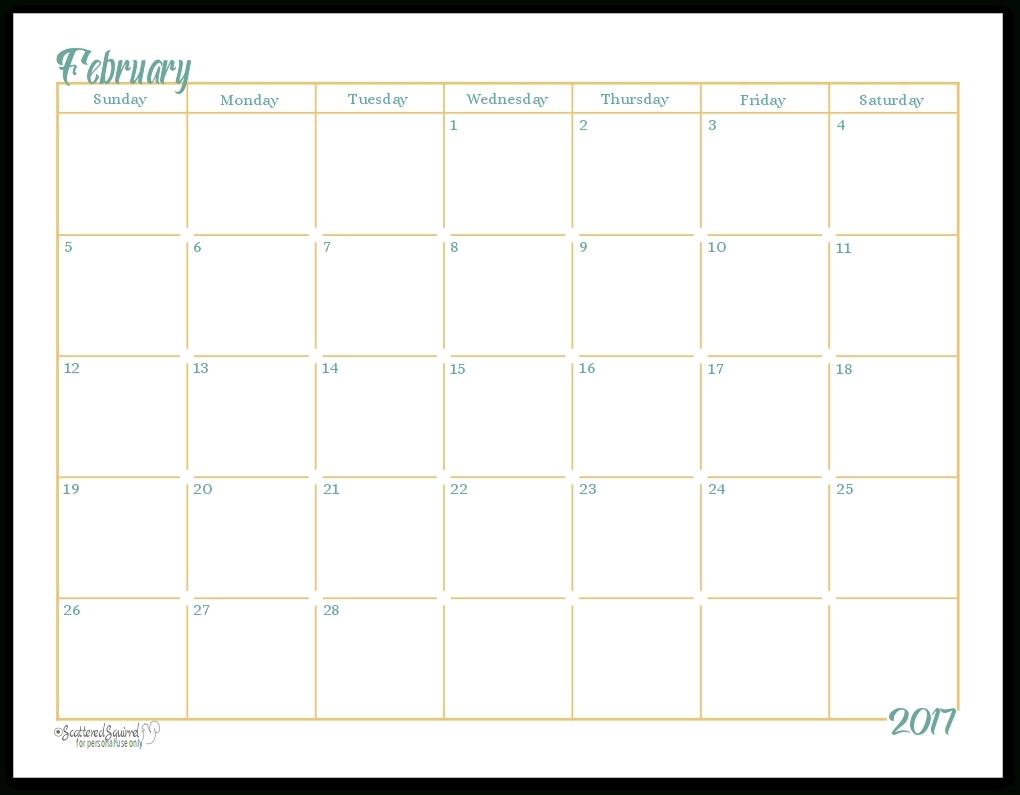 Full Size Printable Monthly Calendars - Calendar Inspiration  Full Size Printable Monthly Calendars