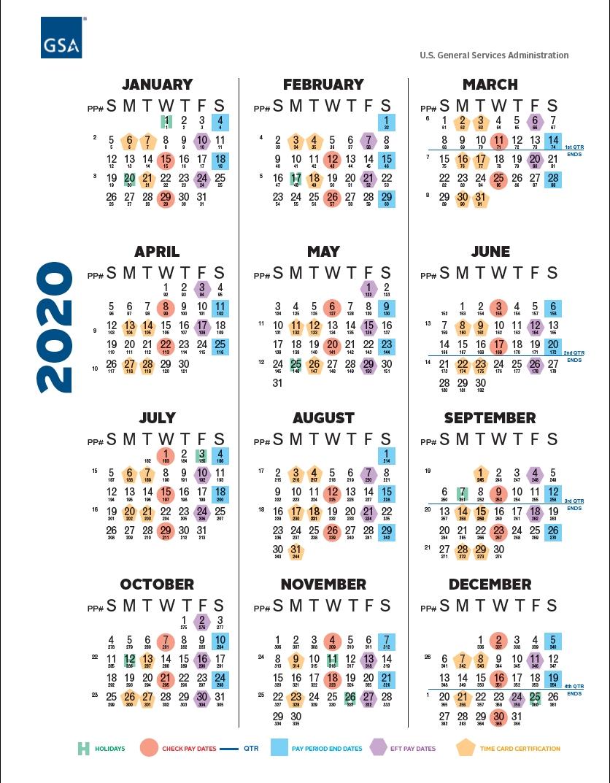 Gsa Payroll Calendar 2021 | Payroll Calendar  Fy 2021 Pay Period Calendar