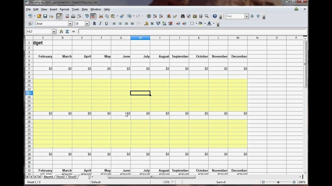 How To Create A Monthly Budget Worksheet  Monthly Bills Spreadsheet