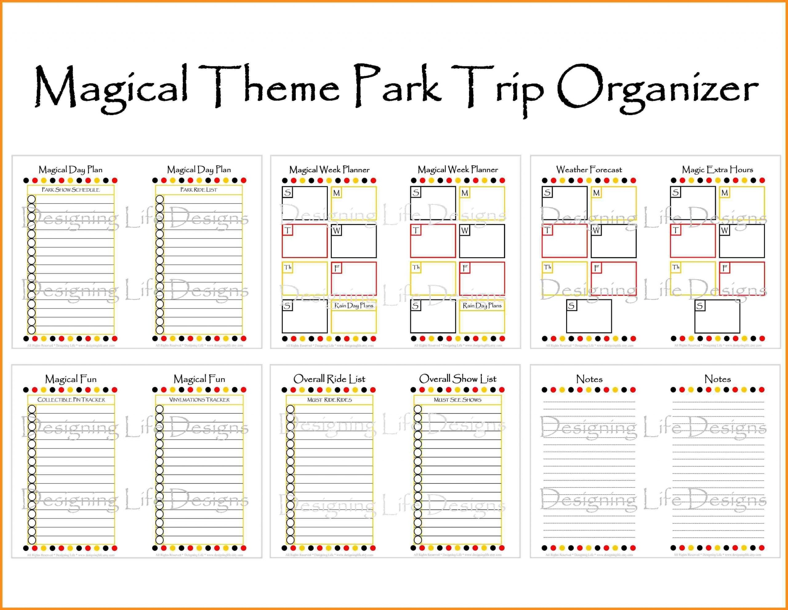 Image Result For Disney World Itinerary Template | Itinerary  Free Disney World Itinerary Template