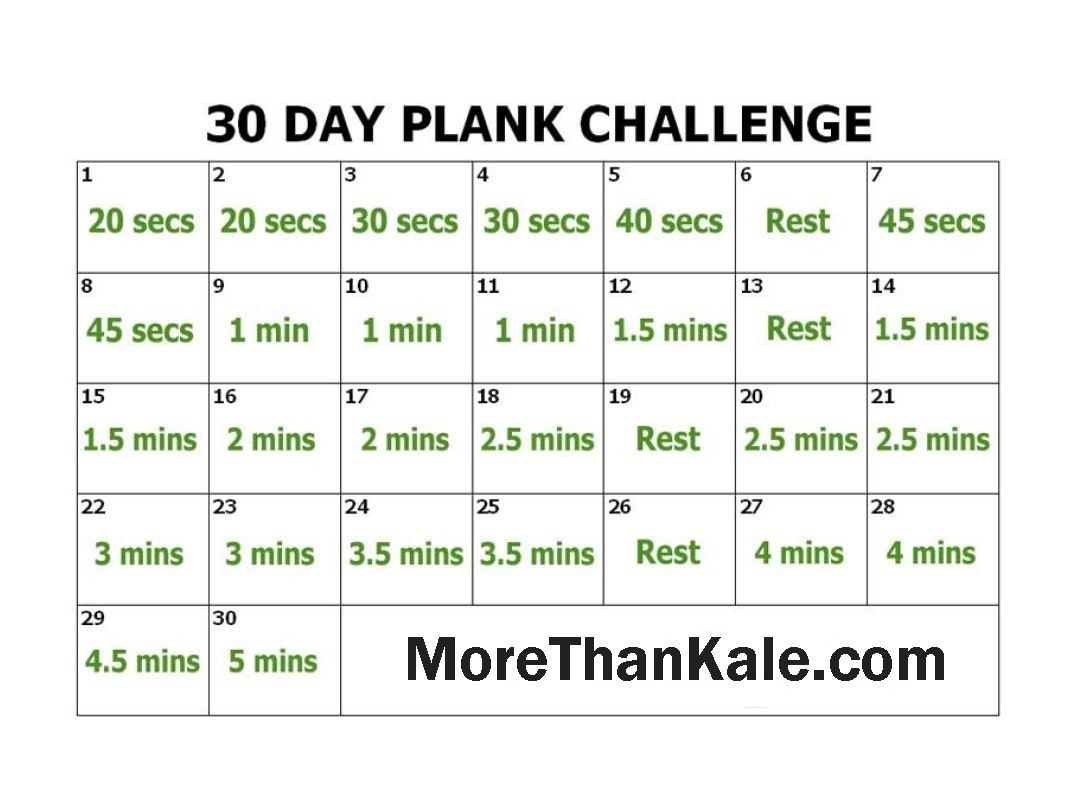 Innovative 30 Day Plank Challenge Printable Calendar | Plank  Printable Blank 30 Day Challenge Chart
