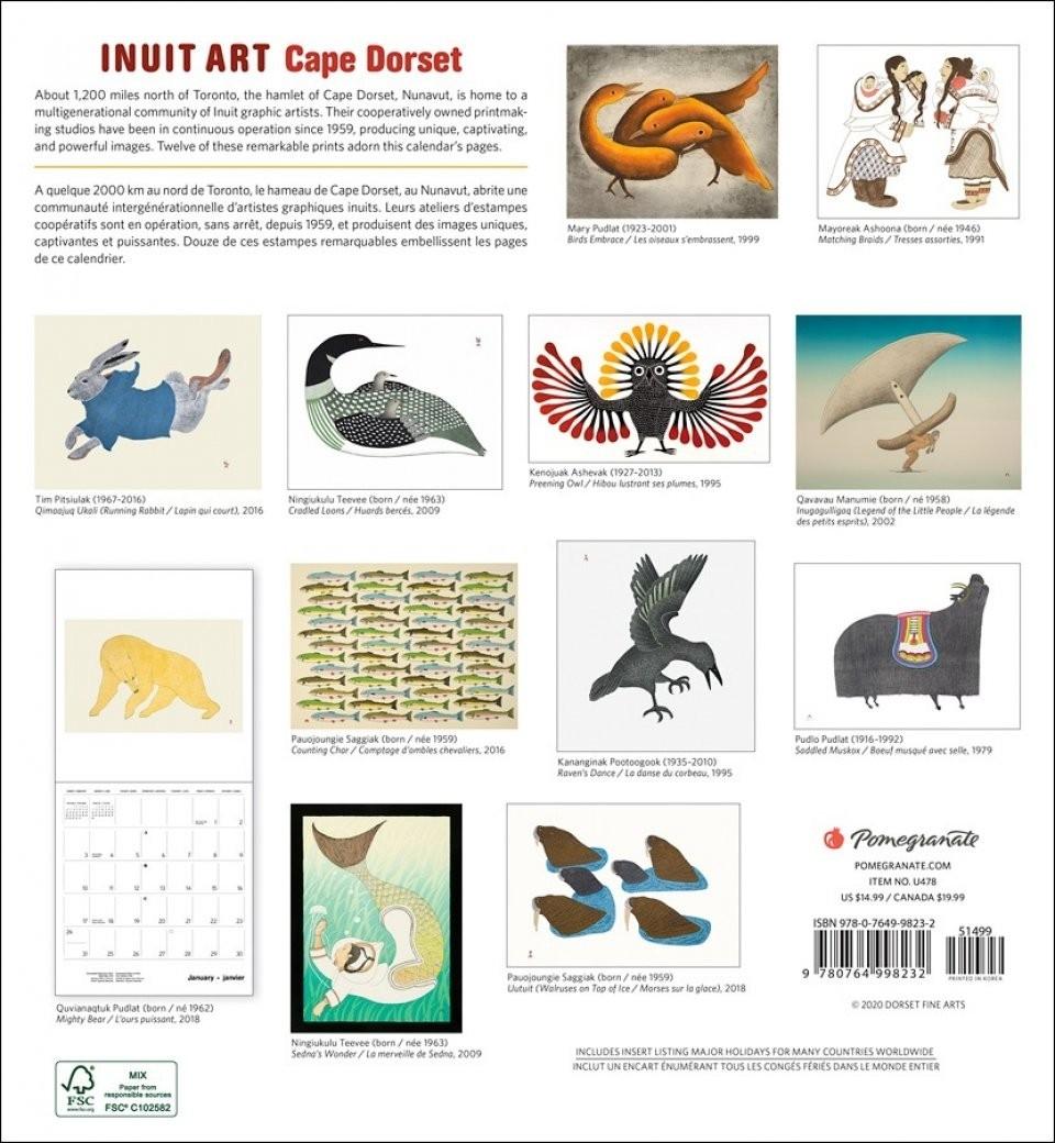 Inuit Art, Cape Dorset: Wall Calendar 2021  Fsc Calendar 2021