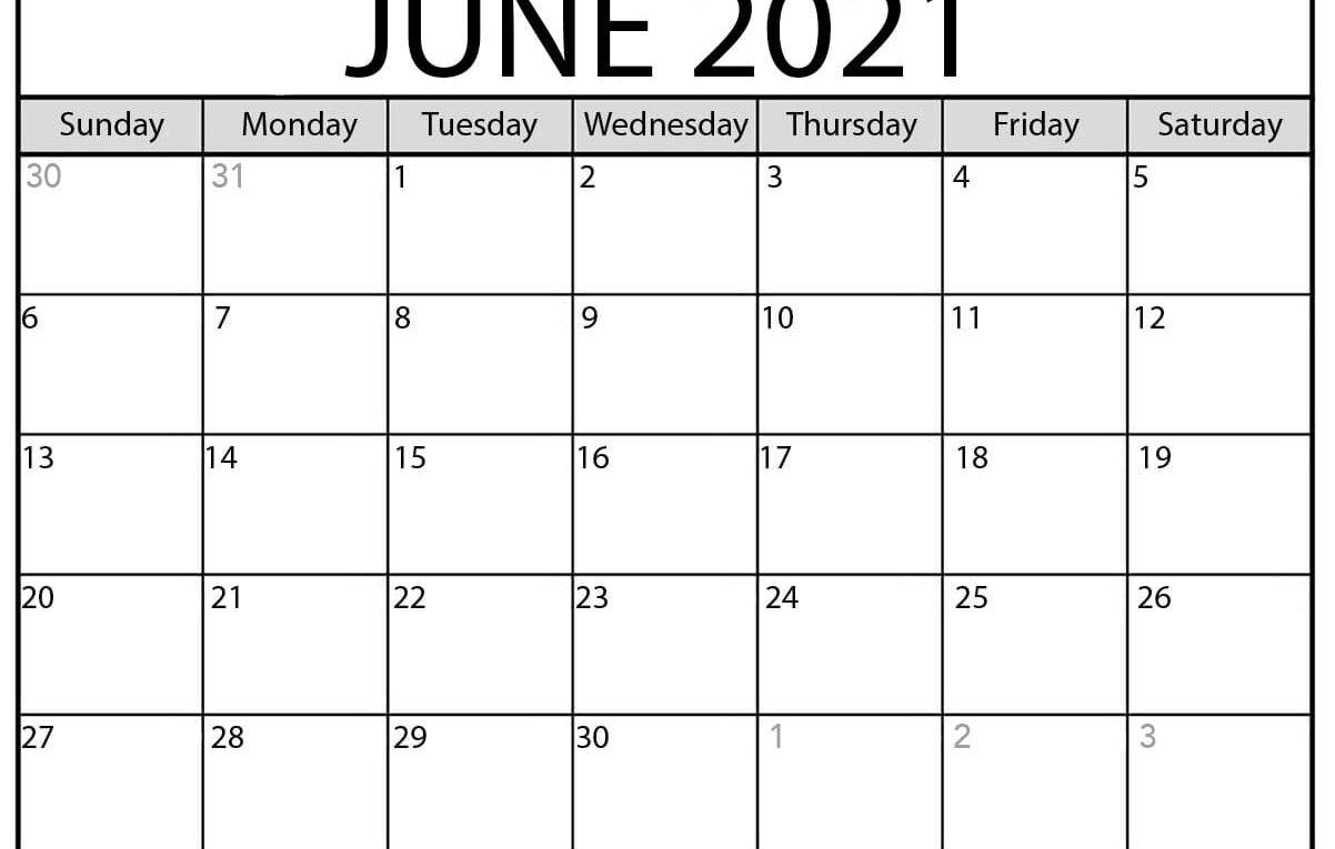 June 2021 Calendar | Blank Printable Monthly Calendars  United Methodist Calendar 2021