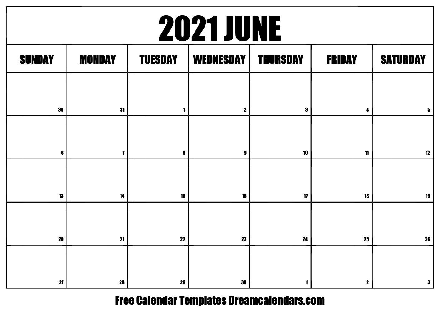 June 2021 Calendar | Free Blank Printable Templates  Monthly Payment Sheet June, 2021